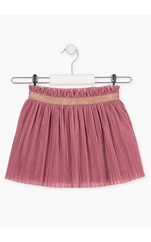 Dievčenská sukňa z prekladaného fantasy úpletu LOSAN