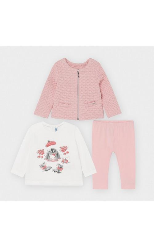 Dievčenský set (kabátik+tričko+legíny) MAYORAL 2795