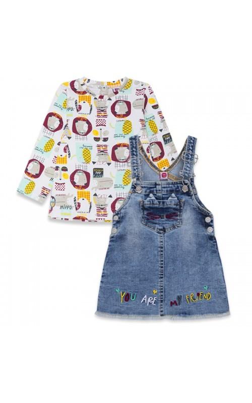 Dievčenský set (tričko+sukňa TUC TUC