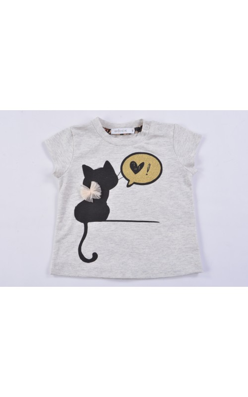 Dievčenské tričko CAT TIME