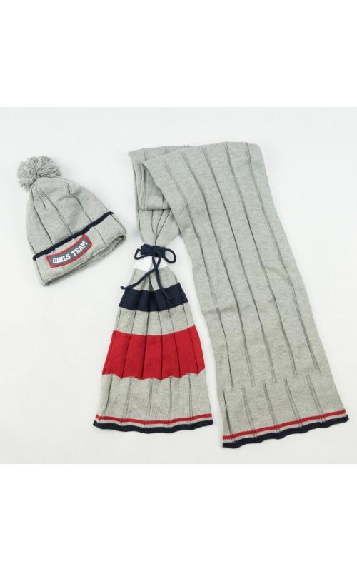Dievčenská čiapka+šál CANDY GIRLS TEAM