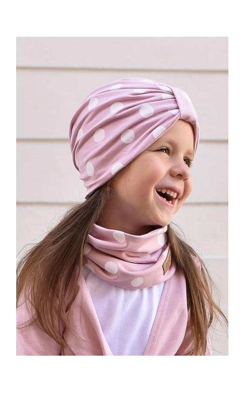 Dievčenský turban LIGHT PINK LUNA