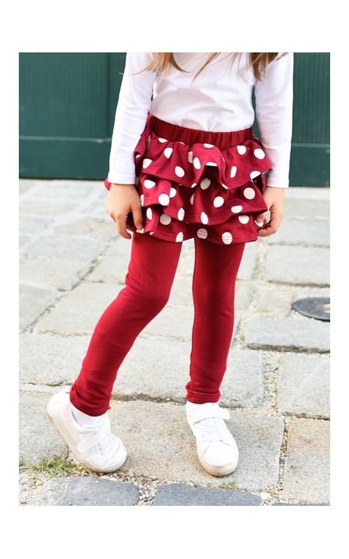 Dievčenské sukňolegíny Basic BIKING RED LUNA