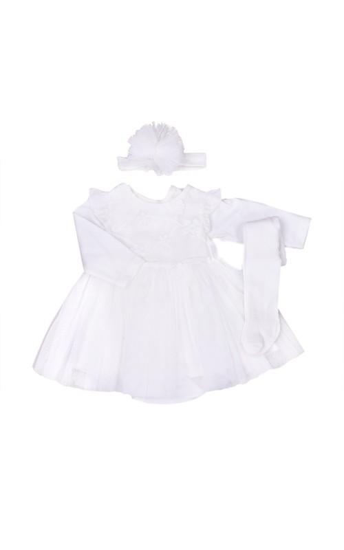 Dievčenský šaty+(pančuchy,čelenka,body)KITIKATE