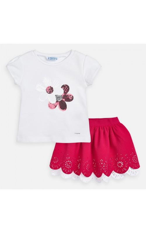 Dievčenský set (tričko+sukňa) MAYORAL 3965